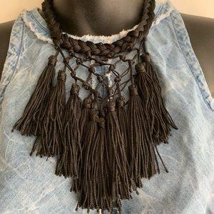 Jewelry - 🖤Fringe Sexy Statement Necklace!